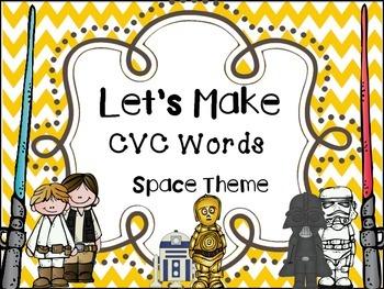 Making Words- CVC Builder Space Theme