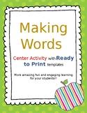 Making Words Center Activity