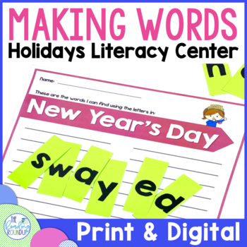 Making Words Literacy Center (Holidays)