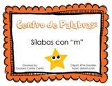 """Making Words Center: Silabas """"m"""" Spanish (sample FREE version)"""