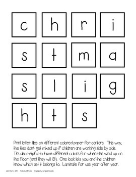 Making Words-Christmas Edition