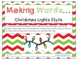 Making Words Christmas Lights Style