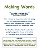 Making Words- Earth Friendly