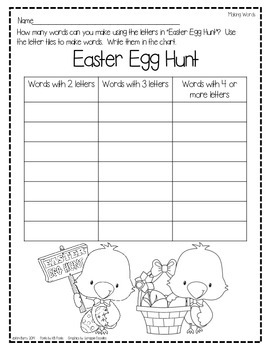 Making Words-Easter Edition
