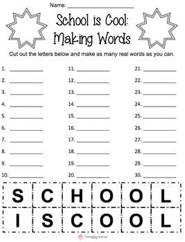 Making Words FREEBIE {Word Work in a PINCH!}