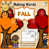 Making Words - Fall/Autumn Edition