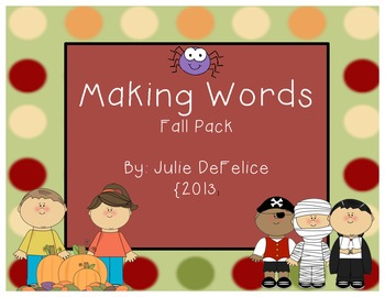 Fall Themed Making Words Pack