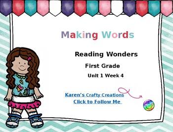 Making Words First Grade Reading Wonders Unit 1 Week 4