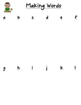 Making Words Folder