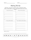 Making Words Freebie