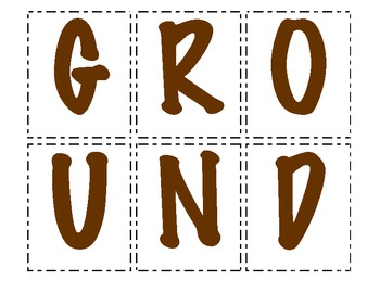 Making Words - Groundhog day