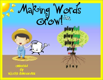 FREEBIE Making Words Grow with Prefixes and Suffixes Cards