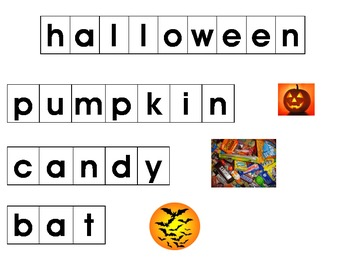 Making Words Halloween