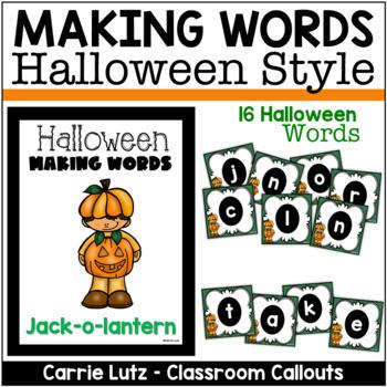 Making Words Halloween