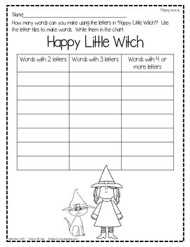 Making Words - Halloween Edition