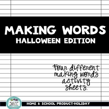 Making Words Halloween Edition