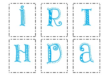 Making Words - Happy Birthday