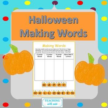 Making Words: Happy Halloween