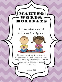 Making Words: Holidays