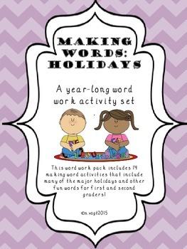 Making Words: Holidays