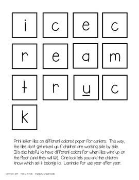 Making Words-Ice Cream Edition