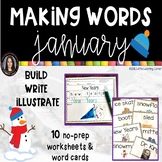 Making Words JANUARY Winter writing center
