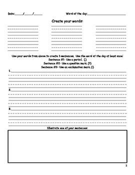 Making Words Journal: Word Work