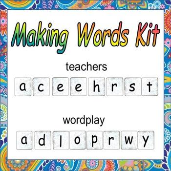 Making Words Kit