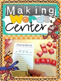 Making Words Phonics Activity or Center