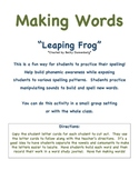 Making Words- Leaping Frog