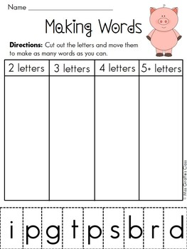 words out of letters building words literacy station entire year set of word 25713 | original 774534 1