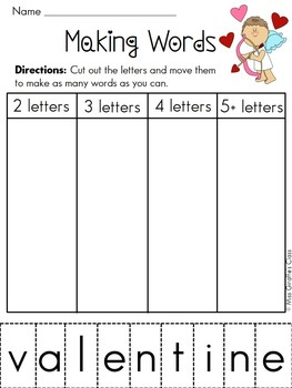 Building Words Literacy Station Entire Year Set of Word Work