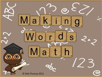 Making Words Math
