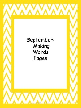 Making Words: Monthly Activities from September to June, Grades 3-4