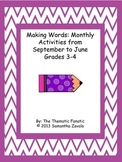 Making Words: Monthly Activities from September to June, G
