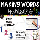 Making Words - Number Words - Writing and Math Center