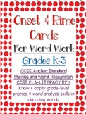 Making Words:  Onset and Rime Cards