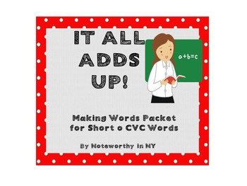 Making Words Packet for Short o CVC Words - Set 4