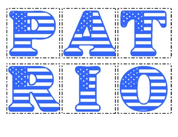 Making Words - Patriot Day