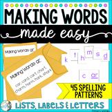 Making Words Phonics Activity