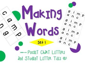 Making Words Pocket Chart Set 1