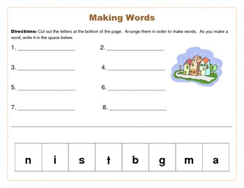 Making Words- Reading Street Unit R