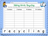 "Making Words! ""Recycling"" {Hands-on Phonics and Spelling Fun}"