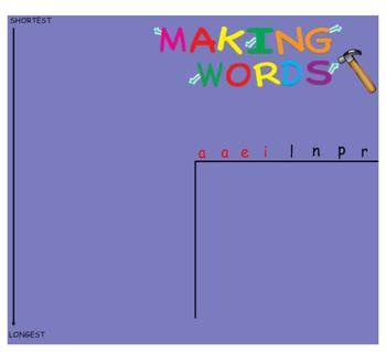 -ain Word Family Sorting Lesson - Airplane - Making Words for the SMART Board