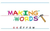 -aw Word Family Sorting Lesson- DRAWERS- Making Words for the SMART Board