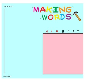 -ar Word Family Sorting Lesson- GUITARS- Making Words for the SMART Board