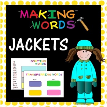 -ack Word Family Sorting Lesson- Jackets - Making Words for the SMART Board