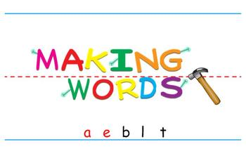 -ale Word Family Warm Up Lesson- Table- Making Words for the SMART Board