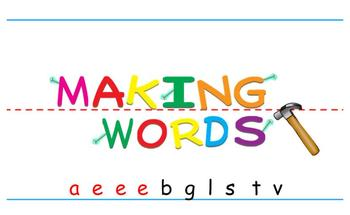 -eat Word Family Sorting Lesson- Vegetables- Making Words
