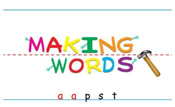 -ap Word Family Sorting Lesson- PASTA- Making Words for the SMART Board